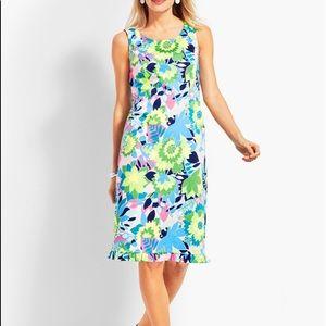 Talbots Floral Peplum Hem Sheath Dress 6